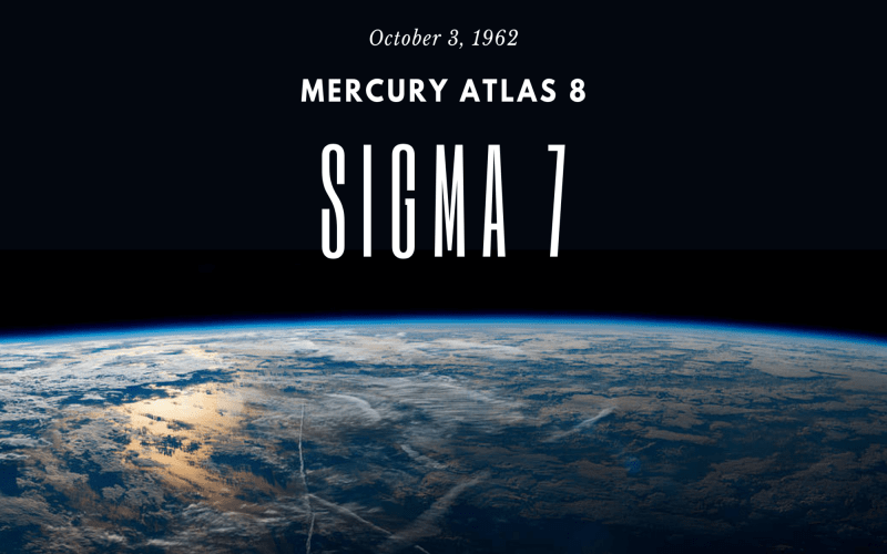 Mercury Atlas 8 and Sigma 7: 58 Years Later