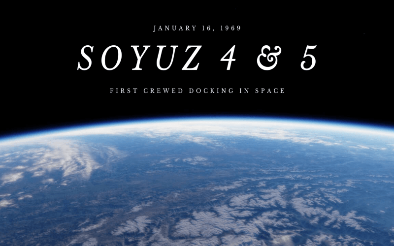 Soyuz 4 and 5 in the First Crewed Docking
