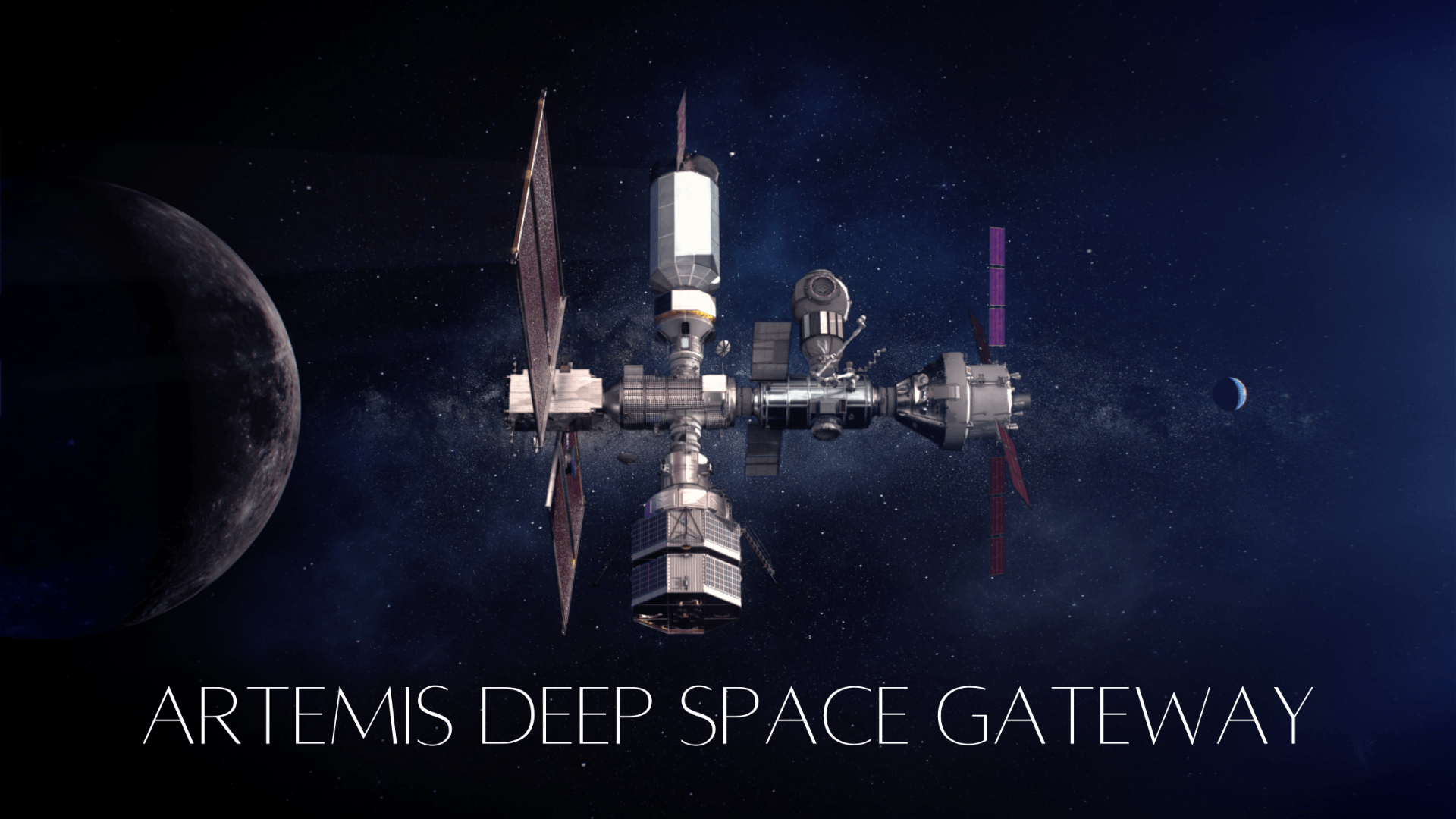 Artist concept of Artemis Gateway