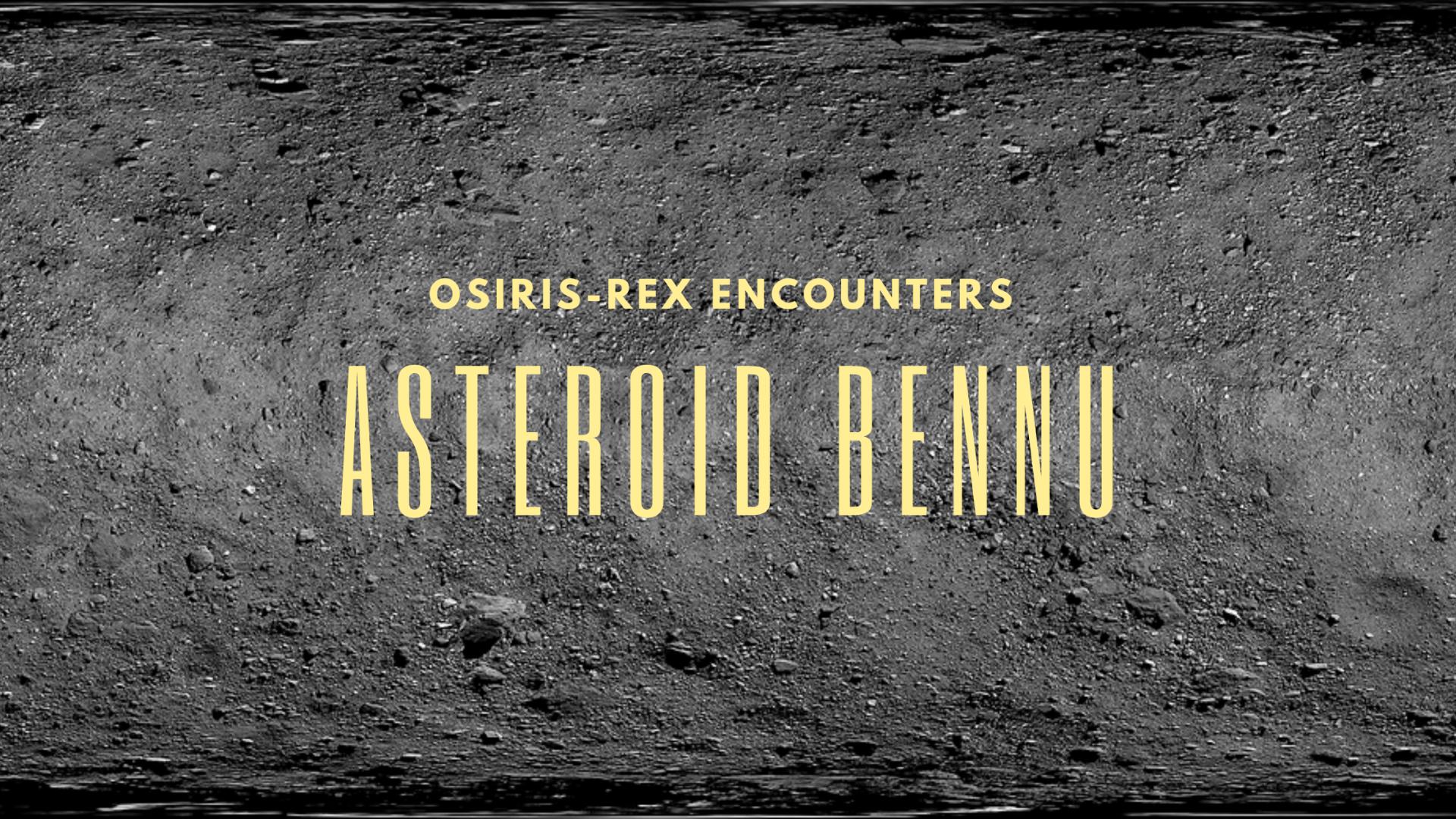 Asteroid Bennu surface image taken from Osiris Rex