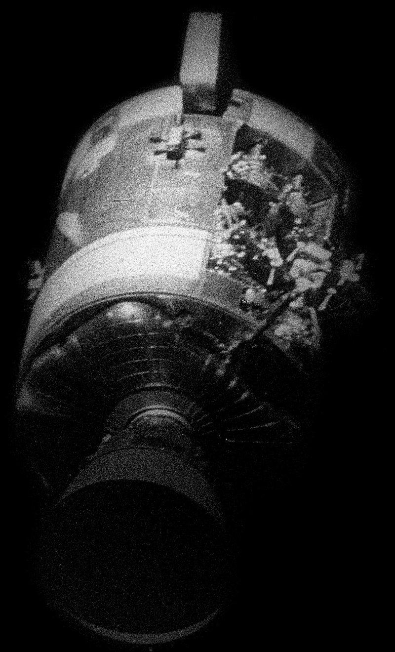 Damaged Apollo 13 module