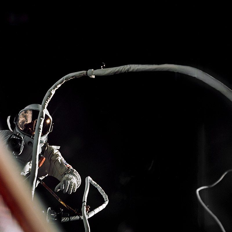 Cernan during his EVA during Gemini 9A
