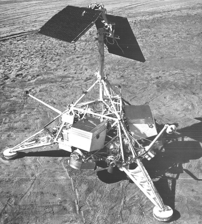 Surveyor 1 model on Earth