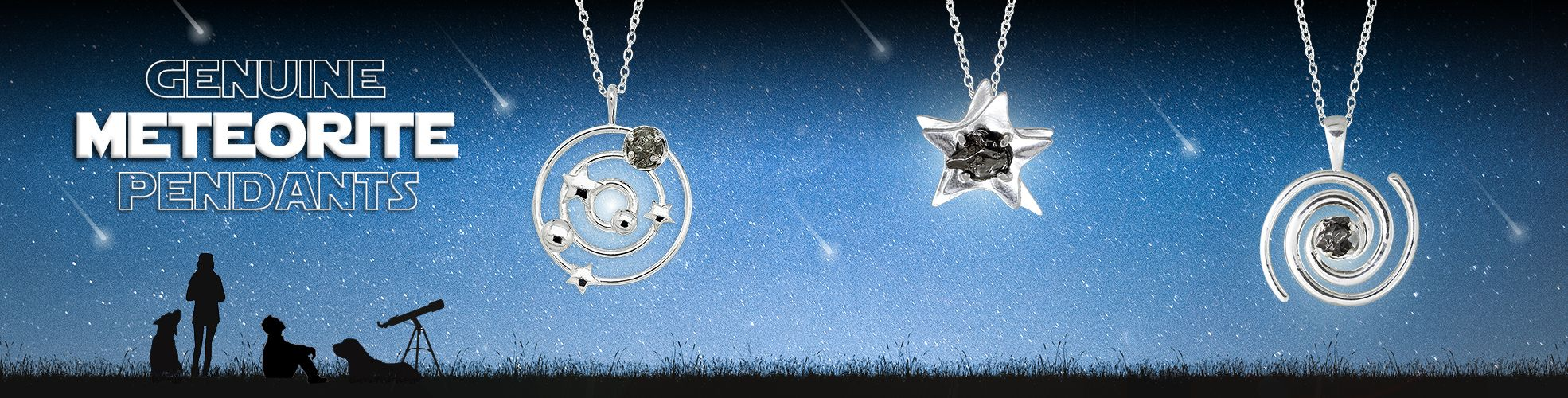 meteorite necklace pendants